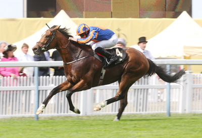 ROYAL ASCOT TUES 16 JUNE 2015  PICTURE: CAROLINE NORRIS     GLENEAGLES RIDDEN BY RYAN MOORE WINNING THE ST JAMES'S PALACE STAKES