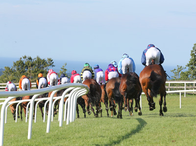 BELLEWSTOWN THURS 2 JULY 2015  PICTURE: CAROLINE NORRIS     THE FIELD AT AN EARLY STAGE IN THE LIME KILN GASTRO PUB HANDICAP WON BY MUSTADRIK