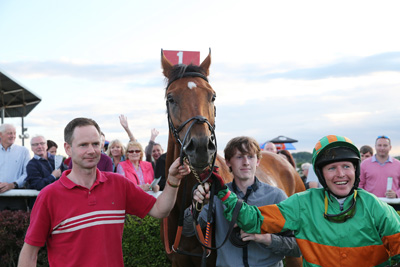 BELLEWSTOWN THURS 2 JULY 2015  PICTURE: CAROLINE NORRIS     TO CHOOSE WITH THOMAS GIBNEY AND MARK FLANAGAN AFTER WINNING THE KINGBET HANDICAP HURDLE