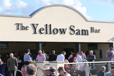 BELLEWSTOWN THURS 2 JULY 2015  PICTURE: CAROLINE NORRIS     THE YELLOW SAM BAR CELEBRATING THE 40TH ANNIVERSARY OF THE FAMOUS BETTING COUP