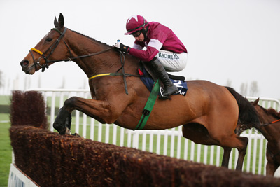CLONMEL THURS 12 NOVEMBER 2015  PICTURE: CAROLINE NORRIS    ROAD TO RICHES RIDDEN BY BRYAN COOPER JUMPING A FENCE ON WAY TO VICTORY IN THE CLONMEL OIL STEEPLECHASE