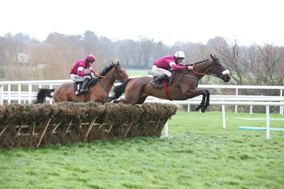 LEOPARDSTOWN MON 28 DECEMBER 2015  PICTURE: CAROLINE NORRIS    PRINCE OF SCARS RIDDEN BY DAVY RUSSELL JUMPING THE LAST TO WIN THE SQUARED FINANCIAL CHRISTMAS HURDLE FROM ALPHA DES OBEAUX RIDDEN BY BRYAN COOPER, 2ND.