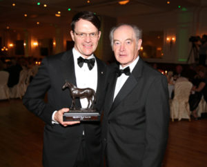 IRTA FLAT AND NH AWARDS. HOTEL KEADEEN, NEWBRIDGE. WED 4 MAY 2016 PICTURE: CAROLINE NORRIS AIDAN O'BRIEN AND DES SCAHILL